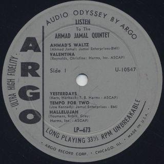 Ahmad Jamal / Listen label