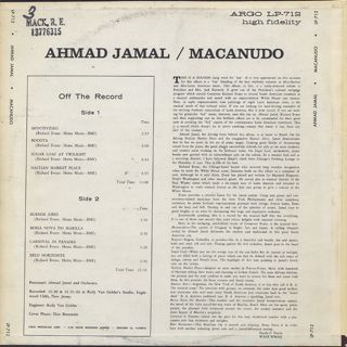 Ahmad Jamal / Macanudo back