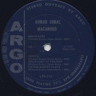 Ahmad Jamal / Macanudo label