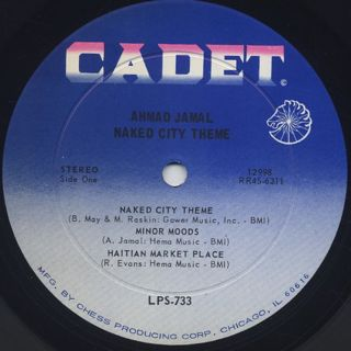 Ahmad Jamal / Naked City Theme label