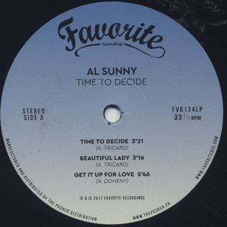 Al Sunny / Time To Decide label