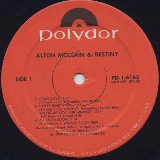 Alton McClain & Destiny / S.T. label