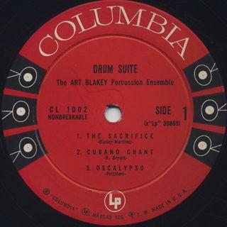 Art Blakey Percussion Ensemble / Drum Suite label