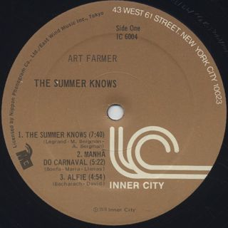 Art Farmer / The Summer Knows label