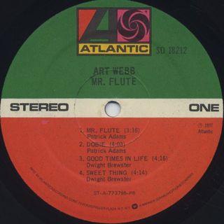Art Webb / Mr.Flute label