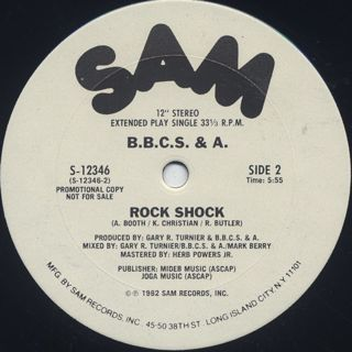 B.B.C.S. & A. / Rock Shock back