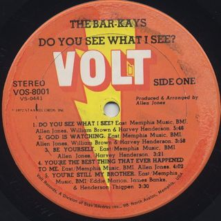 Bar-Kays / Do You See What I See? label