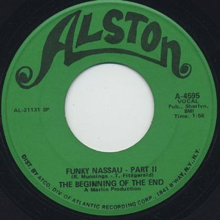 Beginning Of The End / Funky Nassau c/w Part II back