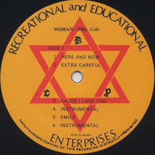 Billy Cole / Woman(LP) label