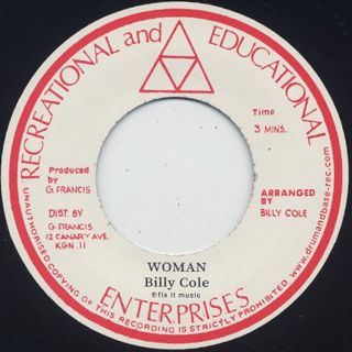 Billy Cole / Woman c/w Bump All Night front