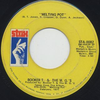 Booker T. And The M.G.'s / Melting Pot c/w Kinda Easy Like