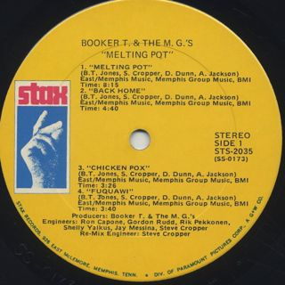 Booker T. & The M.G.'s / Melting Pot label