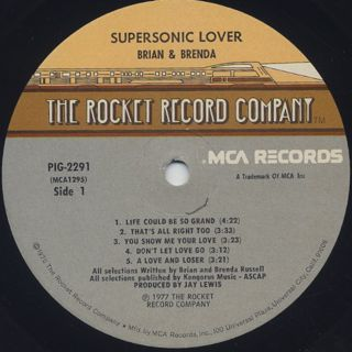 Brian And Brenda / Supersonic Lover label