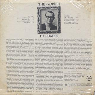 Cal Tjader / The Prophet back