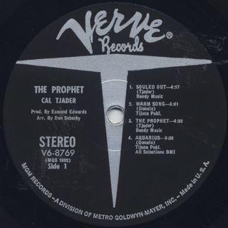 Cal Tjader / The Prophet label