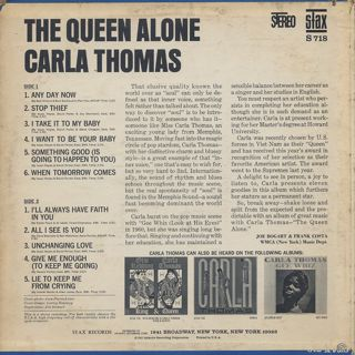 Carla Thomas / The Queen Alone back