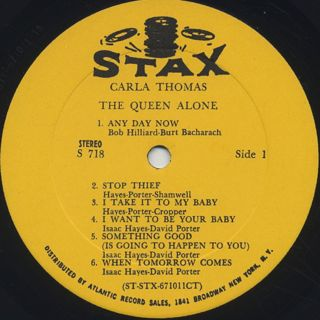 Carla Thomas / The Queen Alone label