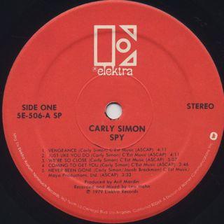 Carly Simon / Spy label