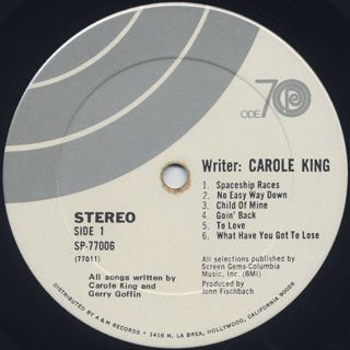 Carole King / Writer: Carole King label