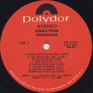 Chakachas / Jungle Fever label