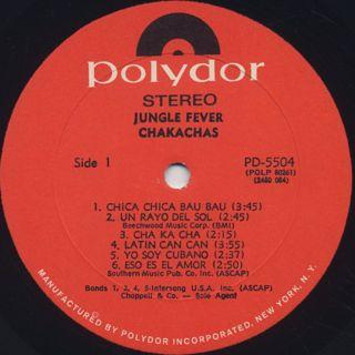 Chakachas / Jungle Fever label