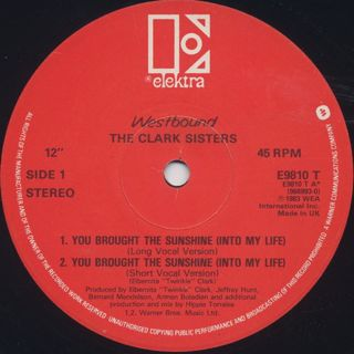 Clark Sisters / You Brought The Sunshine(Into My Life) back