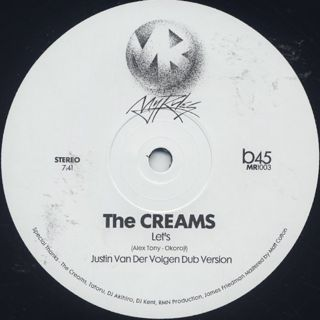 Creams / Let's (Justin Van Der Volgen Versions) back