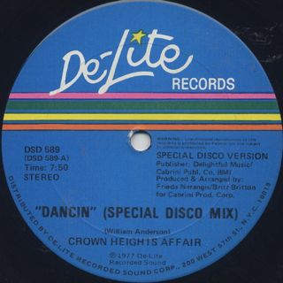 Crown Heights Affair / Dancin (Special Disco Mix) back