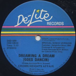 Crown Heights Affair / Dancin (Special Disco Mix) label