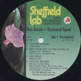 Dave Grusin / Discovered Again! label