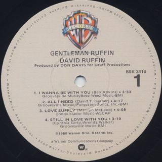 David Ruffin / Gentleman Ruffin label