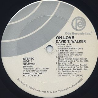 David T. Walker / On Love label