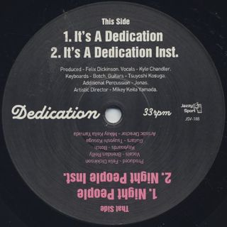 Dedication / It's A Dedication front