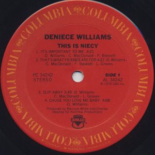 Deniece Williams / This Is Nicey label