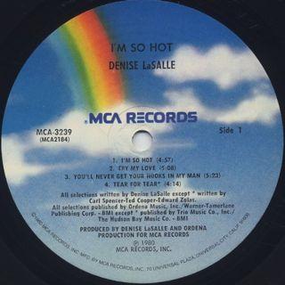 Denise LaSalle / I'm So Hot label