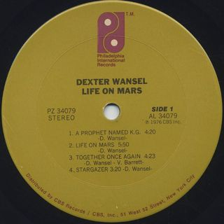 Dexter Wansel / Life On Mars label