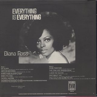 Diana Ross / Everything Is Everything back