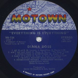 Diana Ross / Everything Is Everything label
