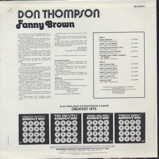 Don Thompson / Fanny Brown back