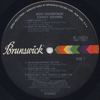 Don Thompson / Fanny Brown label