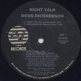 Doug Richardson / Night Talk label