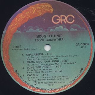 Ebony Godfather / Moog Fluting label