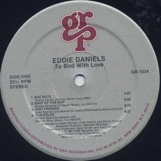Eddie Daniels / To Bird With Love label