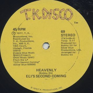 Eli's Second Coming / Heavenly c/w Why Don'cha back
