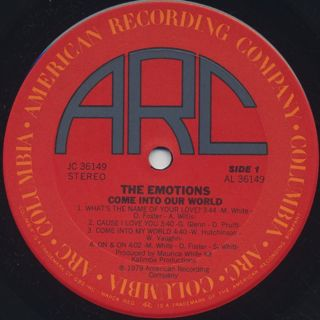 Emotions / Come Into Our World label