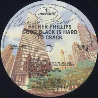 Esther Phillips / Good Black Is Hard To Crack label
