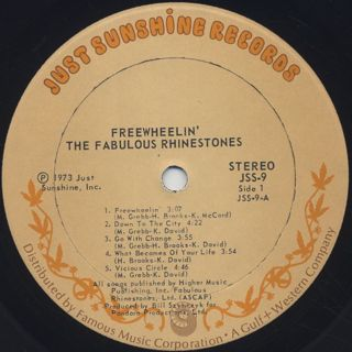 Fabulous Rhinestones / Freewheelin' label