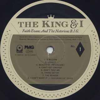 Faith Evans And The Notorious B.I.G. / The King & I label