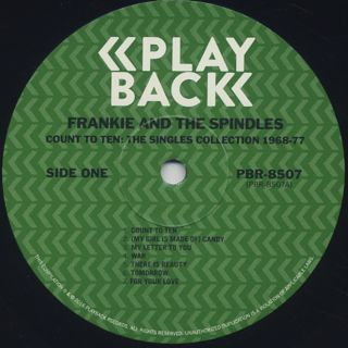 Frankie & The Spindles / Count To Ten -The Complete Singles Collection 1968-1977- label