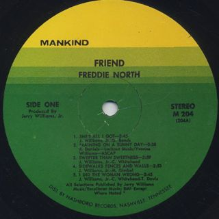 Freddie North / Friend label